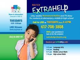 ExtraHelp   LIVE Homework Hotline   Boston Neighborhood Network Boston Neighborhood Network