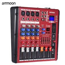 ammoon Digital <b>Bluetooth</b> 4-Channel Mic Line Audio Mixer Mixing ...