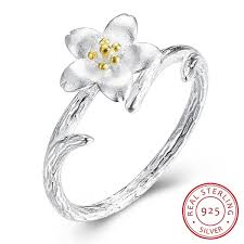 Buy <b>PTE S925</b> fashion trend of individual flowers and <b>Sterling Silver</b> ...