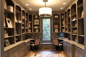 kitchen cabinets home office transitional: home office decorating home office transitional with built in cabinets built in shelves