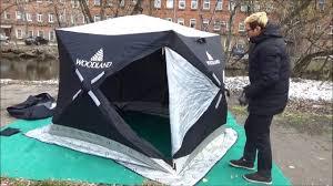<b>Зимняя палатка куб Woodland</b> Ultra Long трехслойная - YouTube