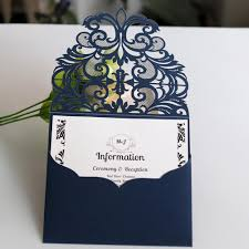 <b>10pcs</b>/<b>set</b> European Style Lace Wedding Invitations Cards <b>Blue</b> ...