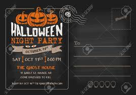 halloween party and costume contest postcard invitation template halloween party and costume contest postcard invitation template stock vector 46956754