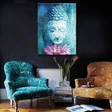 <b>Ehome</b> Stretched <b>Canvas</b> Art Buddha and Lotus Decoration Painting ...