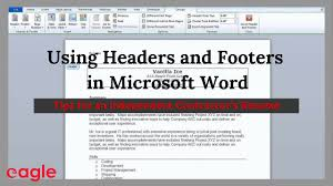 ms word tip using headers and footers in your resume ms word tip using headers and footers in your resume