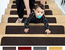 EdenProducts Patent Pending Non Slip <b>Carpet Stair Treads</b>, Set of <b>15</b>