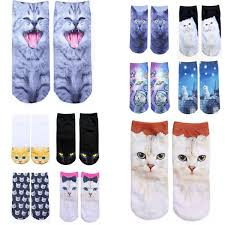 2019 <b>Hot Sale 3D Printing</b> Socks Cute Animal Cat Sock Slippers ...