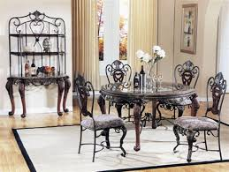 glass top dining sets room