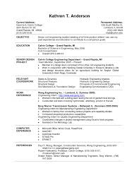 cover letter template for resume samples students in college gallery of example resume for college students