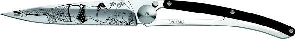 <b>Складной нож Deejo</b> Tattoo Rock'n Roll 37G, Ebony wood | xn ...