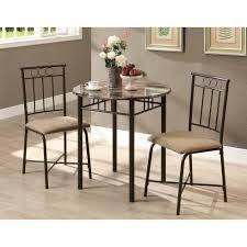 three piece dining set: monarch specialties inc  piece dining set ii
