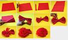 Как сделать гвоздики из бумаги поэтапно фото