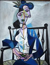 Image result for sitting lady in blue painting