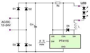 high power dimming led driver pt4115 pt4115 dimmer led driver