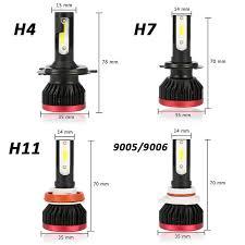 <b>ASLENT</b> H7 Car Headlight Lamp 2pcs 100W 20000LM H4 H11 H1 ...