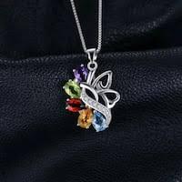 JewelryPalace Butterfly 2.4ct <b>Genuine Amethyst Garnet</b> Peridot <b>Citrine</b>