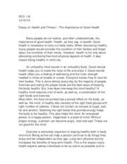 ped   fitness and wellness   northern virginia community pages ped health and fitness essay docx