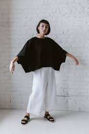 Super Wide Crop Top In Black Linen в 2019 г. | Одежда, Платья и ...