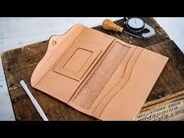 Making a <b>Women's</b> Leather <b>Long Wallet</b> - YouTube