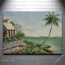 Картина маслом морской пейзаж дом с садом по <b>пальма</b> на ...