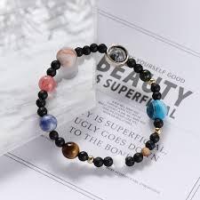 Handmade Natural <b>Gem</b> Stone Bangle Bracelet Universe Galaxy ...