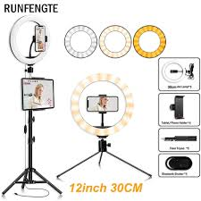 <b>RUNFENGTE 12inch</b> 33cm Ring Light LED With Tripod Selfie ...