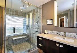 steam shower design with mosaic shower flooring uner recessed lights rectangle sink under frameless mirror bathroom recessed lighting ideas espresso