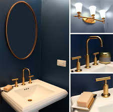 Navy Bathroom Vanity Navy Blue And Gold Bathroom Powder Room Pinterest Antiques