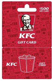 KFC Gift Card - Rs.500: Amazon.in: Gift Cards