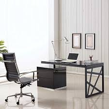 unique computer desk design idea modern minimalist home office design idea with black desk and beautiful office desk glass