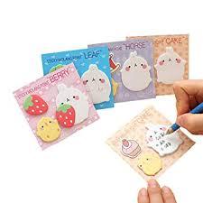 Affe <b>4Pcs</b> Kawaii Rabbit Sticky Notes Self-Adhesive Memo Pad ...