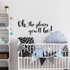 <b>YOYOYU Kids Nursery</b> Wall Decal Quote Oh The Places Decoration ...