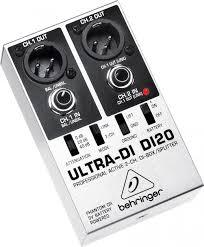 <b>Behringer</b> DI20 <b>Ultra</b>-<b>DI</b> 2-канальный активный DI-<b>box</b>/сплиттер