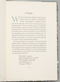 a pride of sonnets together an essay on a sonnet  a pride of sonnets together an essay on a sonnet 1951 limited edition