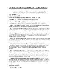 case study outline medical