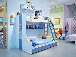 engaging cool kid beds design with blue white wooden bunk bed frame fitted with ladder and amusing cool kid beds design