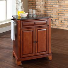 Crosley Kitchen Cart Granite Top Crosley Furniture Newport Natural Wood Top Portable Kitchen Island