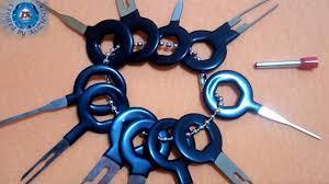 Excellway® <b>11Pcs Terminal</b> Removal Tool Kit Wiring <b>Connector</b> Pin ...