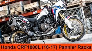 <b>Honda CRF1000L</b> Africa Twin <b>2016-2017</b> - Pannier Racks Installation