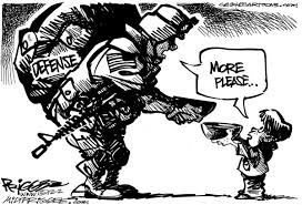 Image result for Increase in Military Spending CARTOON