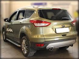Пороги с листом d 53 Технотек FK2013 2 для Ford Kuga 2017 ...
