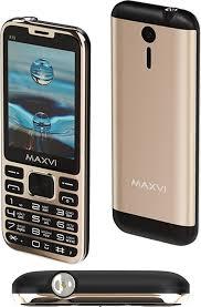 Мобильный <b>телефон MAXVI X10</b> Metallic gold — купить в ...