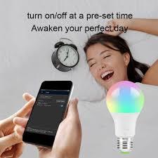 <b>Smart WiFi Light Bulb</b> 4.5W/ <b>7W</b> RGB Magic <b>Light Bulb</b> Lamp Wake ...