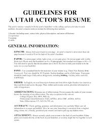 resume  examples of acting resumes  corezume coactors resume