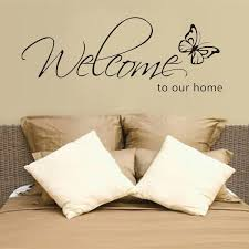 DIY Welcome to Our Home <b>Removable Art Vinyl</b> Decal Wall Stickers ...