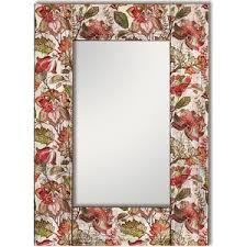<b>Настенное зеркало Дом Корлеоне</b> Цветы Прованс 75x110 см ...