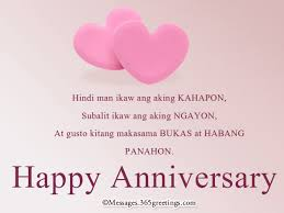 Tagalog Anniversary Messages Messages, Greetings and Wishes ... via Relatably.com