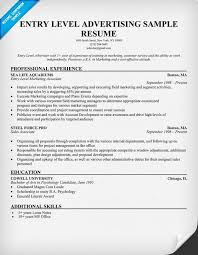 free entry level advertising resume sample   résumés  cover     free entry level advertising resume sample   résumés  cover letters  and portfolios   pinterest   resume examples and resume