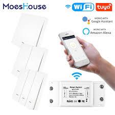 <b>RF433 WiFi</b> Wireless Remote Control Smart Switch <b>Wall</b> Panel ...