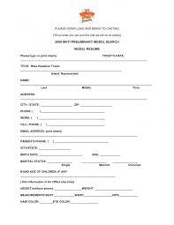 example resume model resume samples resume for modeling agency example resume model